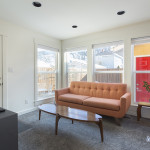 Large windows in this home addition let in a lot of light and really open the space up.